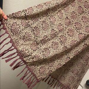 Hand printed made in Peru scarf